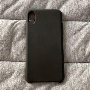 Black iPhone XS Max silicone case